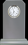 Clipped Corners Clear Glass Clock Achievement Awards