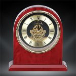 Plymouth Rosewood Piano Finish Desktop Clock Arch