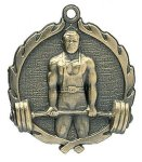Wreath Medal -Weightlifting Male Body Building