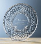 Columbia Award Plate Clear Crystal and Glass Awards