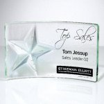 Cast Star Clear Crystal and Glass Awards