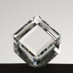 Mounted Beveled Cube Clear Crystal and Glass Awards