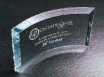 Curved Beveled Clear Crystal and Glass Awards