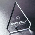 Trimline Series Clipped Diamond Clear Crystal and Glass Awards