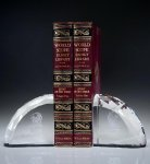 Faceted Bookends Clear Crystal   Glass Awards
