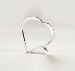 Heart to Heart Clear Crystal | Glass Awards