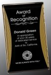 Black/Gold Standing Reflection Acrylic Award Recognition Plaque Corporate Awards