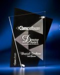 Abstract Clear and Black Acrylic Award Corporate Awards