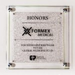 Star Fire Glass Plaque Corporate Awards