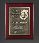 Cherry Finished Panel and Gold Tone Plate Corporate Awards