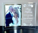 Curved Beveled Glass with Gold Photo Frame Corporate Awards