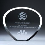 Shell Plaque Crystal Award Corporate Awards