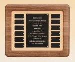 American Walnut Frame Perpetual Plaque Corporate Awards