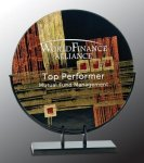 Round Art Glass Award Corporate Awards