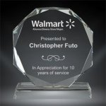 Corporate Crystal Octagon Corporate Crystal Awards