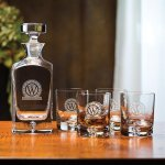 Deluxe Decanter Set, 5-Piece Crystal Barware Stemware