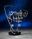 Triangle Wired Acrylic Award Fan Awards