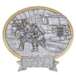 Legend Oval Award -Firefighter Fire   Safety   Military
