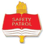 Safety Patrol Lapel Pin Fire   Safety   Military
