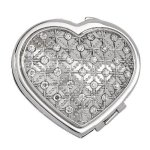 Heart Compact with Crystals Heart