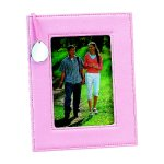 Pink Leatherette Frame with Engraving Tag  Misc. Gift Awards