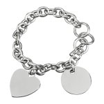 Stainless Steel Charm Bracelet with 2 Charms  Misc. Gift Awards