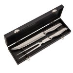 Stianless Steel 2 Piece Carving Set in Black Box  Misc. Gift Awards
