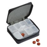 Black Leather Zippered Pill Case  Misc. Gift Awards