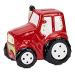 Red Ceramic Tractor Bank  Misc. Gift Awards
