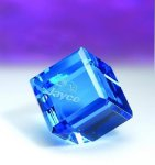 Blue Standing Cube Paper Weights
