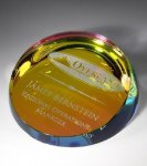 Colored Corona Paperweight Paperweights
