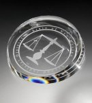 Clear Corona Paperweight Paperweights