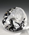 Standing Faceted Dome Paperweights
