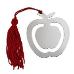 Apple Bookmark with Red Tassel  Scholastic Awards