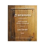 Reclaimed Wood Plaque - 10.5 X 13 Square Rectangle Awards