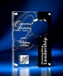 Circle Cutout Clear and Black Acrylic Award Square Rectangle Awards