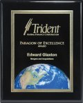 Ebony Piano Finish Plaque with Themed Florentine Plate Square | Rectangle