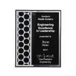 Acrylic Plaque with Mirror Cutout Hex Pattern Square | Rectangle