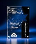 Star Cutout Clear and Black Acrylic Award Square | Rectangle