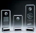Crystal Tower Award W/Globe Square | Rectangle