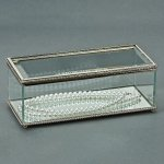 Rectangle Hinged Box, Glass  Square   Rectangle