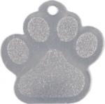 Stainless Steel Paw Print Pet Tag Tags