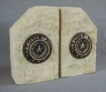 Texas State Seal Bookends Texas Proud