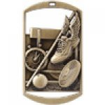 Dog Tag Medals -Track and Field Track