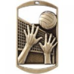 Dog Tag Medals -Volleyball Volleyball